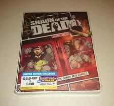 Shaun of the Dead Steelbook Blu-ray DVD 2-Disc Set Limited Edition Reel Hero's