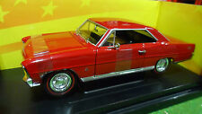 CHEVROLET CHEVY NOVA SS rouge 1/18 AMERICAN MUSCLE ERTL 36673 voiture miniature