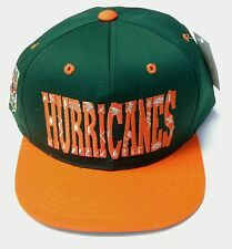 NWT NCAA Miami Hurricanes Annco Vintage Snapback Youth Cap Hat NEW!
