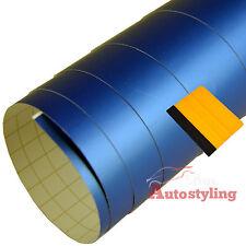3m x 75cm MATT MATTE BLUE Vinyl Wrap Strip Car Sticker Air Drain + FREE SQUEEGEE