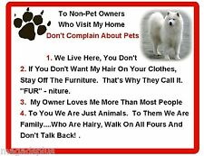 Funny Dog Samoyed House Rules Refrigerator / Magnet Gift Card Idea
