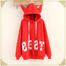 Sweet Japanese Lolita Kawaii devil horns Winter Sweatshirt Hoodie Jacket Coat