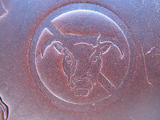 Laser Engraved Delrin Leather Stamp Press Tool No Bull Sign