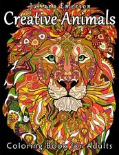 Creative Animals Coloring Book For Adult Kids Art Design Pattern Stress Relaxing