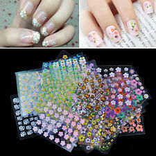 50 Sheets DIY Flower 3D Nail Art Transfer Stickers Decals Manicure Decor Tips FT
