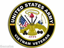 "ARMY 4"" VIETNAM RIBBON VETERAN HELMET BUMPER STICKER DECAL MADE IN USA"