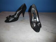 vtg. Stuart Weitzman Martinique BOW Pumps SUEDE Heels STILLETTO Spain SHOES 5.5B