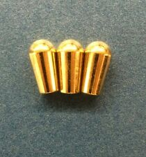Mighty Mite Metal Toggle Switch Cap in Gold Set of 3