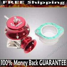 "RED 2.5"" FLANGE MOUNT ADJUSTABLE TYPE RS BLOW OFF VALVE BOV TURBO CHARGE"