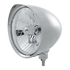 "Chrome 7"" Billet Style ""CHOPPER"" Headlight with Razor Visor - Crystal H4 Bulb"
