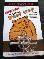 Mini Bear Trap w/Hvy Duty Swivel & Key Chain Trap traps Trapping (#331646108570)