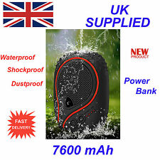 iPhone iPod iPad MP3 MP4 Waterproof 7800mAh Charger Water Dust Shock Proof