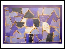 Paul Klee Blaue Nacht Poster Kunstdruck Bild mit Alu Rahmen in schwarz 60x80cm