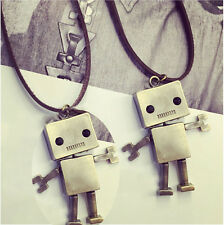 Robot Pendant Necklace Sweater Long Chain Jewelry As A Good Gift For Friend