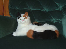 LIFESIZE CALICO CAT REALISTIC FURRY REPLICA FIGURINE Toy 231ca FREE SHIPPING USA