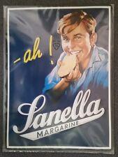 """Sanella Margarine """"AH"""" - 3D Relief geprägtes Blechschild 39 x 29 cm"""