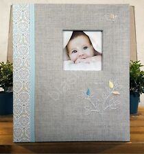 NEW CR Gibson Linen Tree Gender Neutral Baby Boy Girl Keepsake Book Loose Leaf