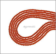 "16"" Red Orange Bamboo Coral Round Seed Beads 2mm #63065"