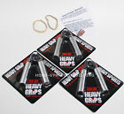 Heavy Grips Hand Gripper POPULAR COMBO HG150-200-250 + Finger Exercise Bands