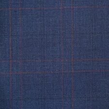 Blue with Red Check Super 120's Wool & Cashmere Jacketing - 2.50 Mtrs