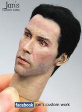 """1/6 Hot CUSTOM REPAINT & REHAIR Keanu Reeves toys figure head sculpt matrix 12"""""""