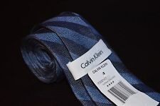 "NWT Calvin Klein Navy Blue Striped Men's Classic Slim Neck Tie 3"" Wide"