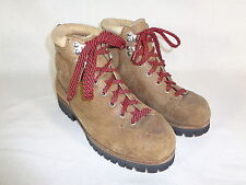 VASQUE 70's Vintage Mountaineering Hiking Brown Leather Boots Women's 6 C EUC