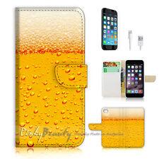 iPhone 7 (4.7') Flip Wallet Case Cover P0465 Beer