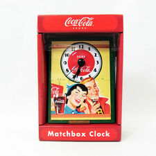 COCA COLA COKE CLOCK MATCHBOOK DESK TOP NEW