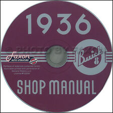1936 Buick Shop Manual CD Century Special Limited Roadmaster Repair Service