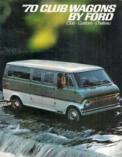 Ford Club Wagon 1970 USA Market Sales Brochure Custom Chateau Bus Camper