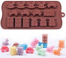 Baby Toys 15 Cavity Silicone Mold for Fondant, Gum Paste, Chocolate, Crafts