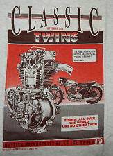 N.O.S. CLASSIC TWINS SEPT. 1956~BRITISH MOTORCYCLE No1 IN THE WORLD~GREY TEE