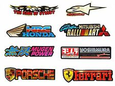 Race Car Motorcycle Bike Motocross Embossed 3D Foil Reflective Stickers Decals