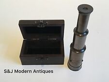 Brass Telescope Antique Vintage 8 Inch Hand Extending Old Naval Victorian Pirate