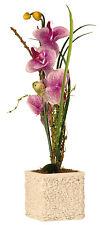 Moderne Pot de fleurs avec rose Orchidée comprenant éclairage LED Hauteur 55cm