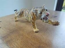 "Vtg 1990s ELC AAA Rubber Toy TIGER 9.5""  BIG CAT WILD ZOO ANIMAL Very Realistic"