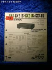 Sony Service Manual STR GX215 / GX315 / GX415 Reciever (#0016)
