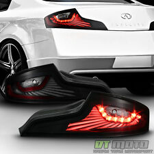 Black Smoked For 03-05 Infiniti G35 35GT Coupe LED Tail Lights Lamps Left+Right