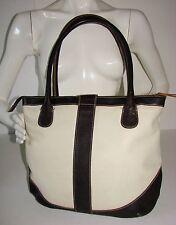 Hobbs Brown/Cream Genuine Leather Ladies Handbag/Shoulder Bag