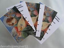 100 Stück  Visitenkarte 85  x 55  mit  Gebetstext und Bild Hl. Schutzengel