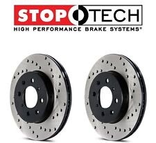 NEW Mercedes CL55 AMG W215 W220 Pair Set of Front StopTech Drilled Brake Rotors