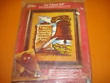 VTG 1975 PARAGON NEEDLECRAFT LIBERTY BELL STAMPED CREWEL EMBROIDERY KIT SEALED