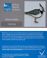 RSPB Pin Badge | Lapwing standing | GNaH backing card [00945]