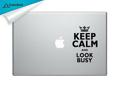 Funny Keep Calm Look Busy Mac Laptop Sticker Mac Stickers Decals 13 15 inch Mac