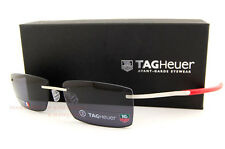 Brand New TAG Heuer Sunglasses SPRING 0382 103 PURE/RED GREY LENSES for Men