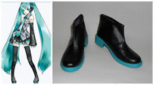 Vocaloid Hatsune Miku Blue Short Cosplay Costume Boots Boot Shoes Shoe