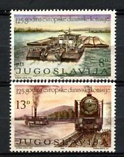 Yugoslavia 1981 SG#2001-2 Danube Commission Locomotive MNH Set #A33001