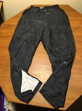 Nike Athletic Pants Large L(12-14) Women Black Nylon Track Run Fitness Lined