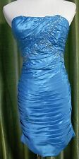 Jump Apparel Blue Ruched Strapless Short Semi-Formal Cocktail Party Dress 3/4